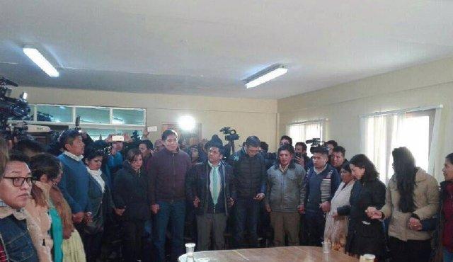 Llegada de los nueve funcionarios bolivianos condenados en Chile