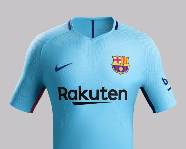 Segunda equipación del FC Barcelona 2017-18