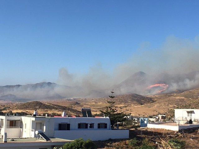 Incendio en Cabo de Gata