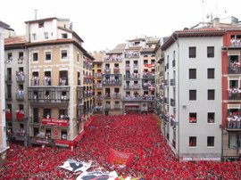 Los hoteles de Pamplona y comarca registran una ocupación del 73,61% para Sanfermines