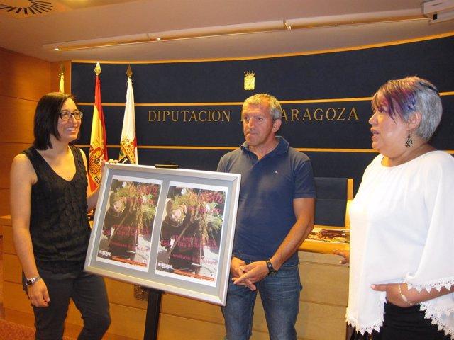 Palacín, Andía y Ruiz han presentado la XVII Feria de la Brujería de Trasmoz