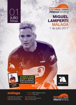El clinics de Miguel Lamperta llega por primera vez a Málaga.