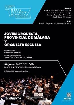 Jopma orquesta escuela málaga diputación cartel verano