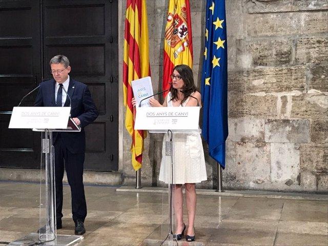 Puig y Oltra hacen balance de los dos años al frente del Consell