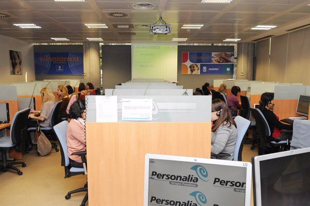 Central de llamadas de teleasistencia de Personalia