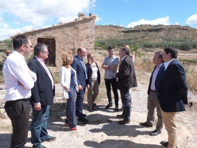 Beamonte ha visitado este jueves Alcañiz (Teruel)