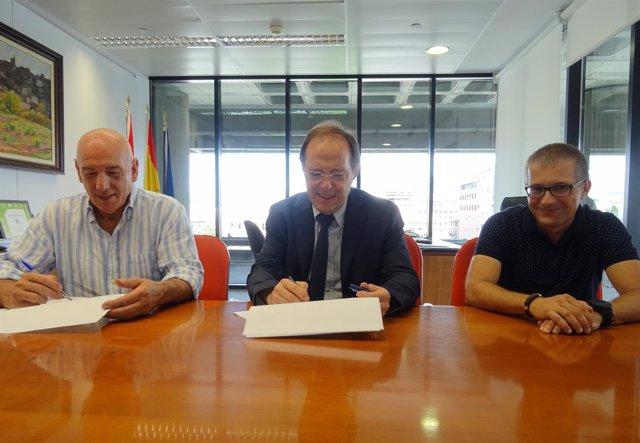 José Luis Herrera y Luis Gabilondo firman el convenio