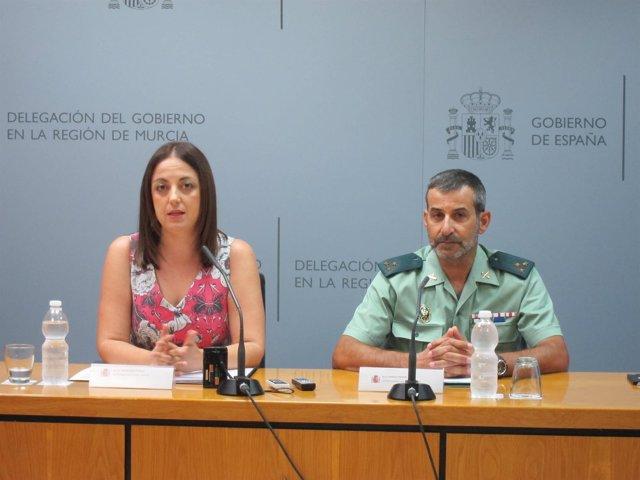 Virginia Jerez y Agapito Cánovas, en la rueda de prensa
