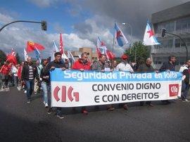 """CIG reclama en Santiago un convenio """"justo"""" a nivel nacional en el sector de la seguridad privada"""