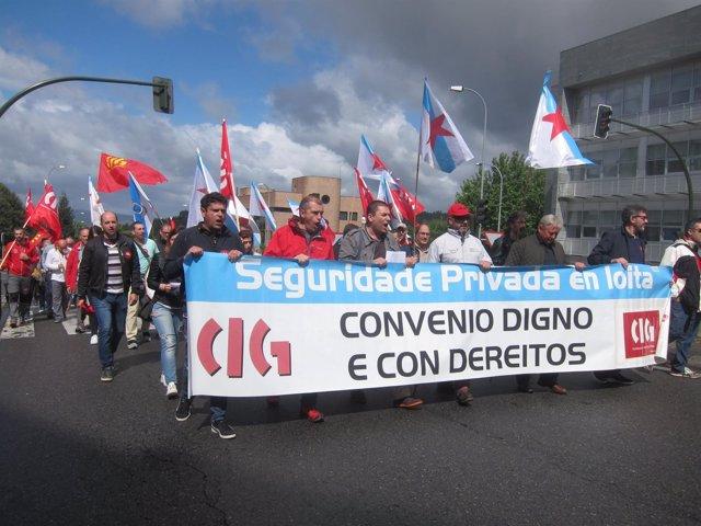 Protesta de CIG Seguridade