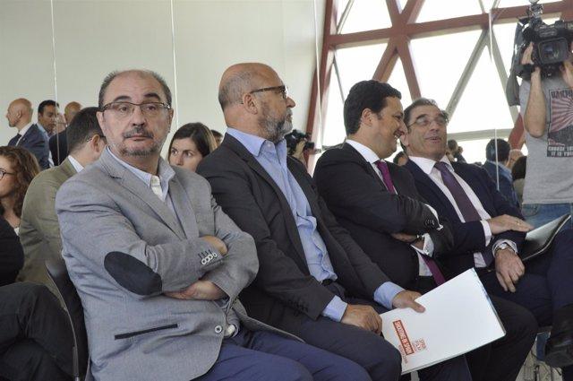 El presidente de Aragón, Javier Lambán, con la Spain Film Comission.