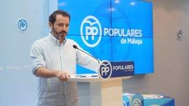 """El PP de Málaga pide amparo a la FAMP por el """"afán recaudatorio"""" de la Junta con el canon del agua"""