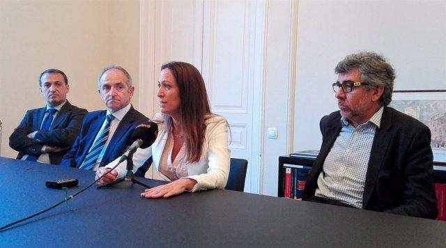 Rueda de prensa de Eugènia Gay tras ganar las elecciones al Icab