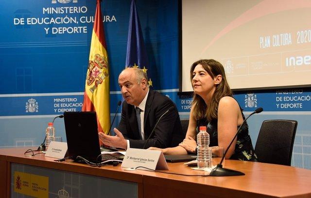 Fernando Benzo Y La Directora General De INAEM, Montserrat Iglesias