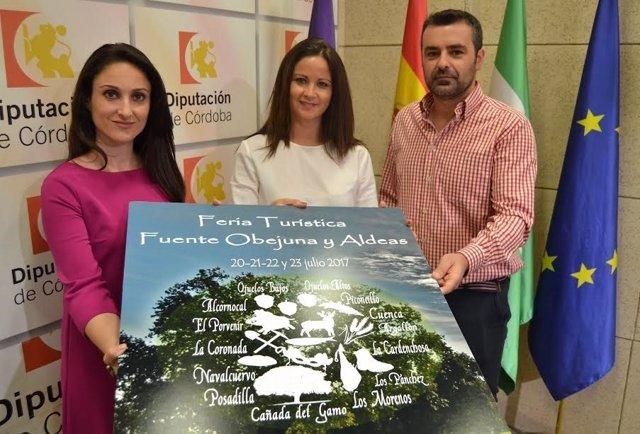 Gómez (izda.) y Mellado en la presentación de la Feria Turística