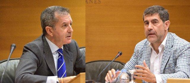 Uncio y pérez Boada en la Comisión de las Corts por Feria Valencia
