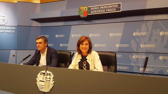 Jonan Fernández y Cristina Uriarte