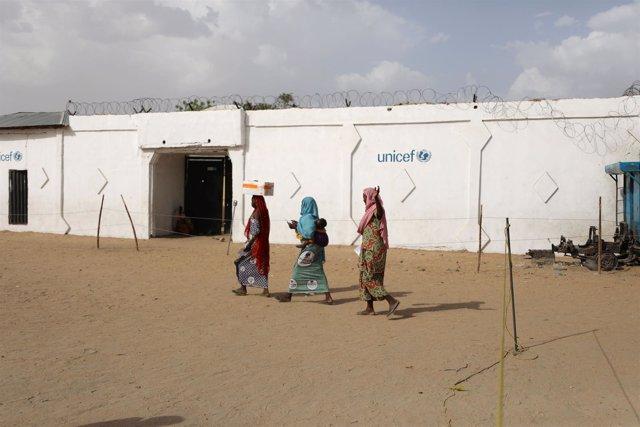 Campamento de desplazados en Banki (Nigeria)