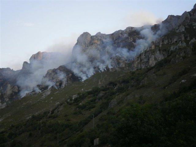 Incendio En Pico De Europa