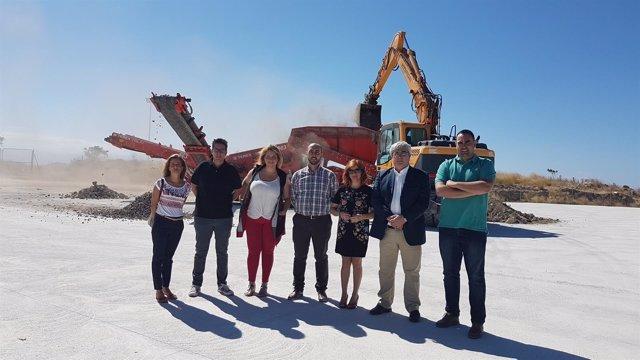 Inauguración de la planta para residuos de la construcción