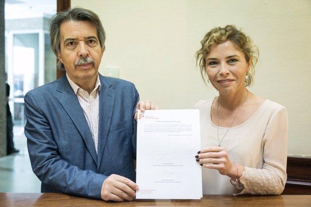 Ciudadanos registra PNL sobre barracones, marta Martín