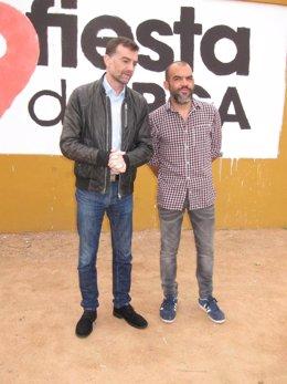 Maíllo (izda.) junto a José Manuel Mariscal (PCA)