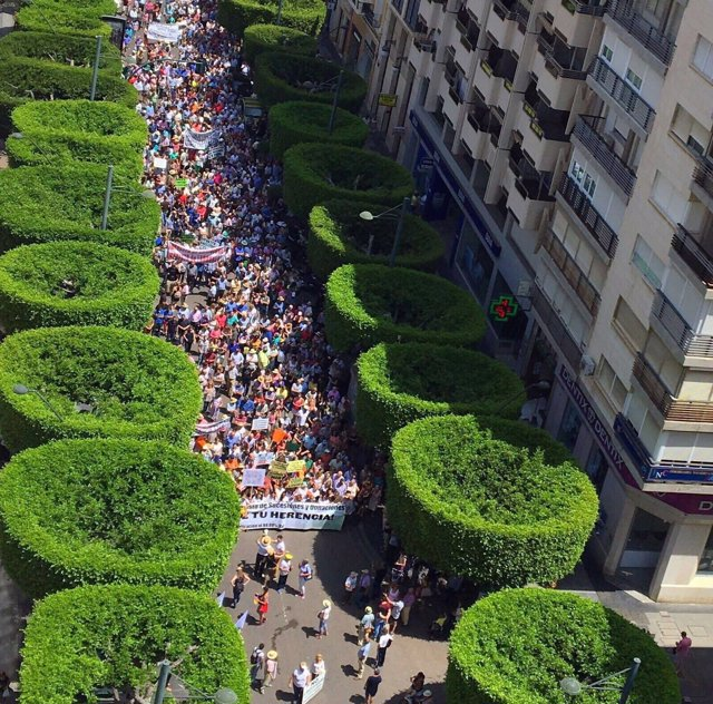 Manifestación en Almería contra el impuesto de sucesiones