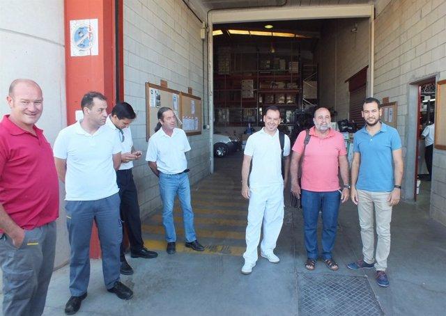 Rojas visita el centro del Polígono Calonge