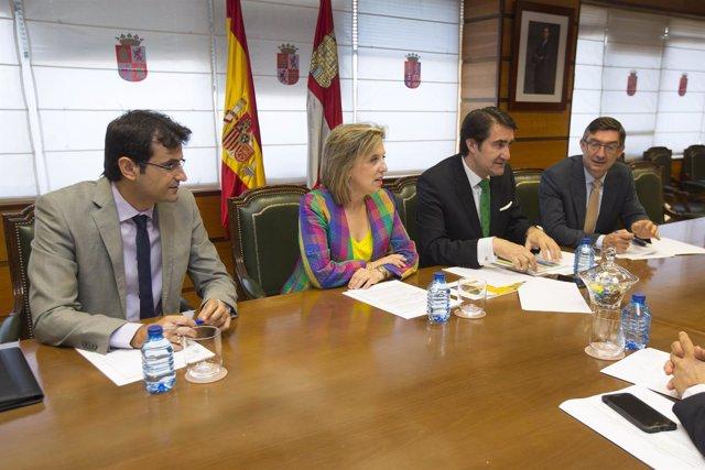 Suárez-Quiñones y Salgueiro, durante la reunión.