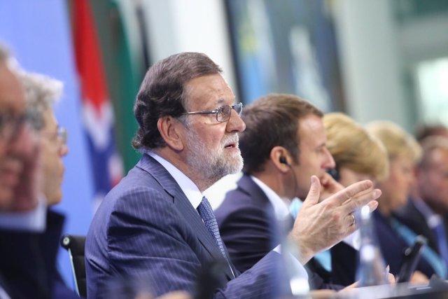 Rajoy participa en la Cumbre del G-20 en Berlín