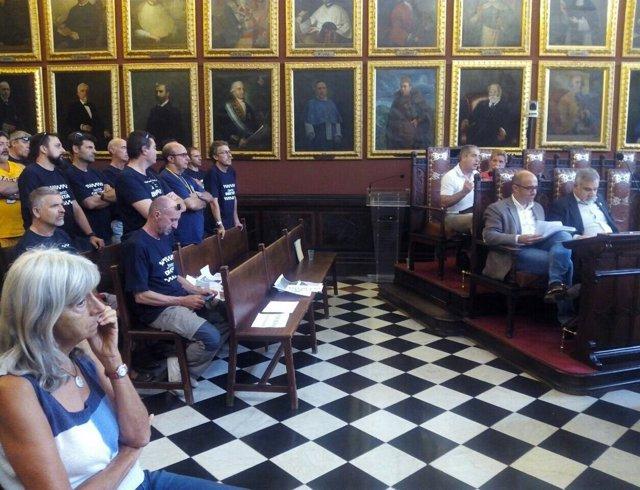 Bartomeu Cañellas (Cs Palma) en el pleno del Ayuntamiento
