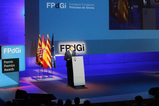 El Rey Felipe VI en su discurso de clausura de los Premios FPdGi