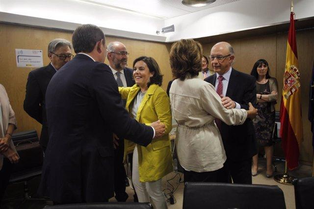El conselleiro de Facenda, Valeriano Martínez, este jueves en el CPFF