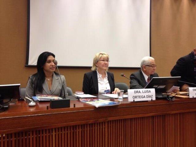 La fiscal general de Venezuela, Luisa Ortega Díaz, en la ONU