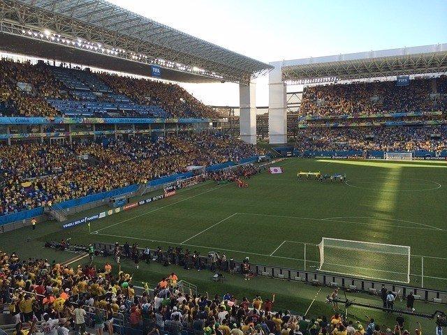 Campo de fútbol, mundial de fútbol de Brasil