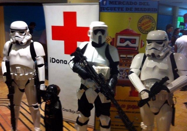 Representación de soldados imperiales de Star Wars