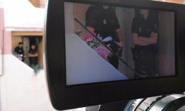 Agentes de Policía en el lugar del suceso en Paterna