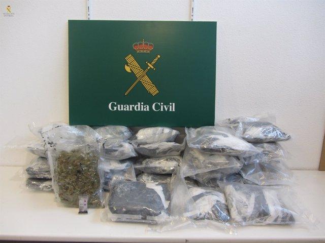 La Guardia Civil decomisa 18 kilos de marihuana en La Jonquera