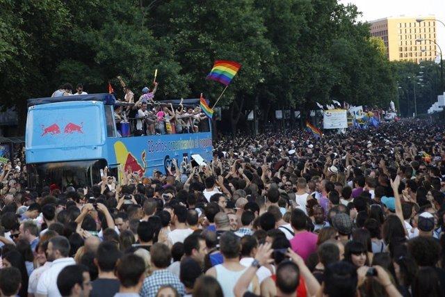 Fiesta del orgullo gay, imagen de archivo