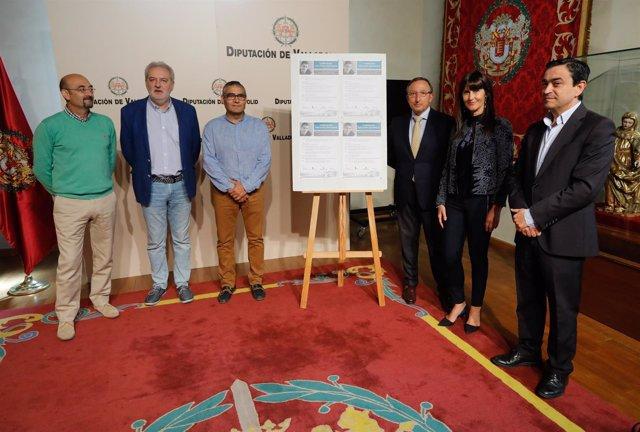 Presentación del homenaje a Juan Carlos Santamaría.