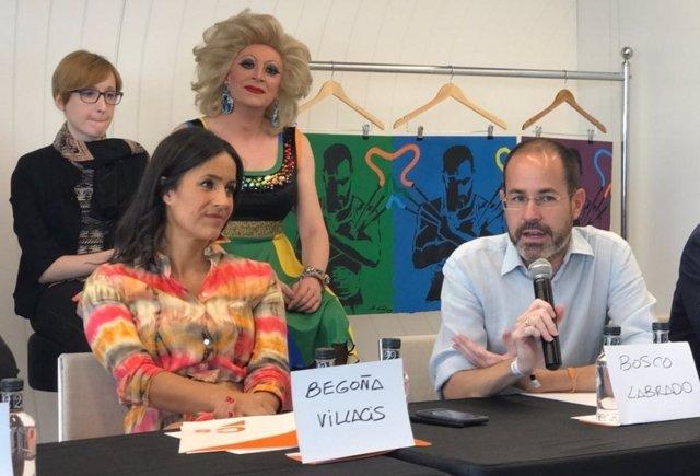 Begoña Villacís y Bosco Labrado en rueda de prensa