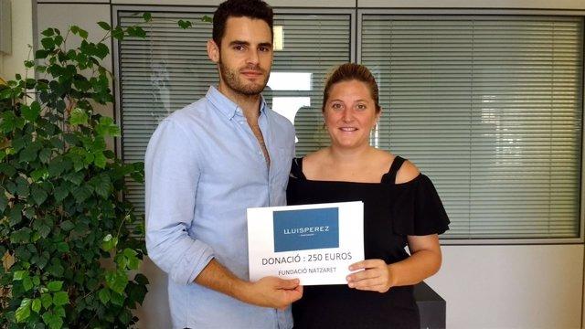 Lluis Perez Pastisser y Antonia María Massip, Coordinadora Fundació Natzaret