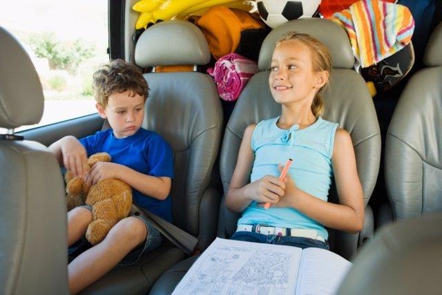 Niños viaje coche