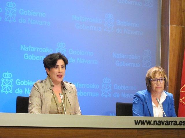 María Solana y Nekane Oroz