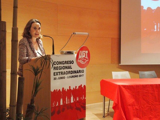 Gamarra en el Congreso de UGT La Rioja