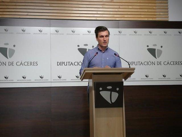 Fernando G. Nicolás, portavoz de la Diputación de Cáceres