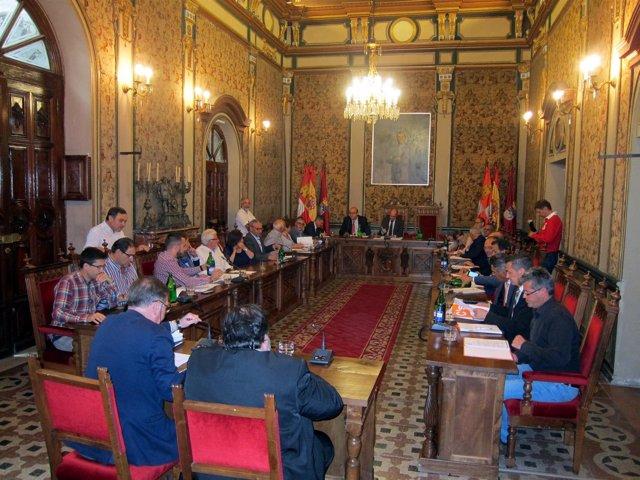 Pleno en la Diputación de Salamanca.