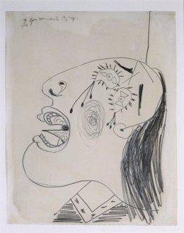 Uno de los bocetos previos al Guernica