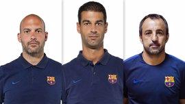 El Barça renueva a los técnicos de la cantera Gerard López, Gabri García y Quique Álvarez