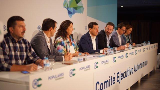 Juanma Moreno en el Comité Ejecutivo Autonómico